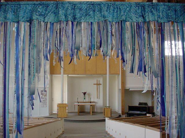 I Like This Curtain To Put Up On Baptism Sunday S