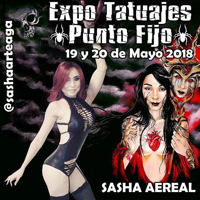 Para toda mi gente de Venezuela ya se están presentando los artistas para la siguiente edición de EXPO TATUAJES PUNTO FIJO que se realizara los días 19 y 20 de Mayo del 2018 por aquí del estado Falcon SASHA ARTEAGO @sashaarteaga  con una presentación especial de aros acrobaticos  no puedes perderte este majestuoso acto de arte circense #tattoo #tatuajes  #radiant  #radiantcolors