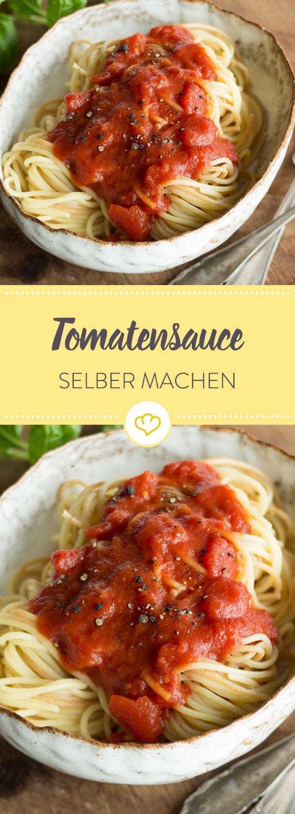 Als Basis für Pastagerichte, Aufläufe oder als Dip für frisches Brot - eine gute, aromatische Tomatensauce ist Gold wert. So geht's.