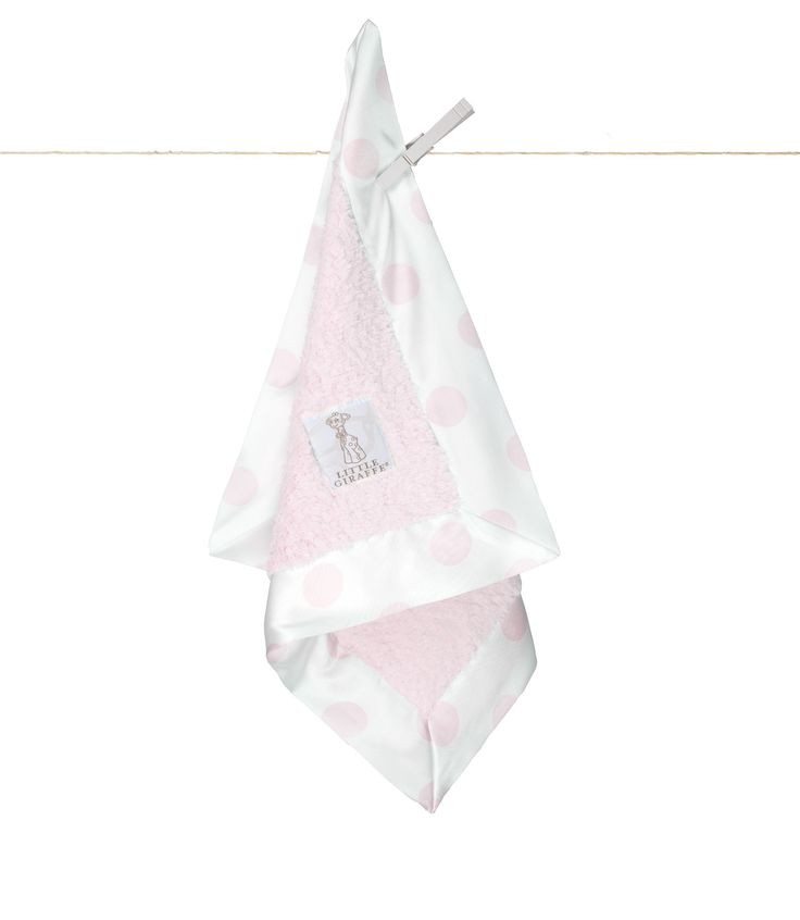 Little Giraffe - Chenille New Dot Blanky - Pink CANADA Free Shipping at RockprettyBaby.ca