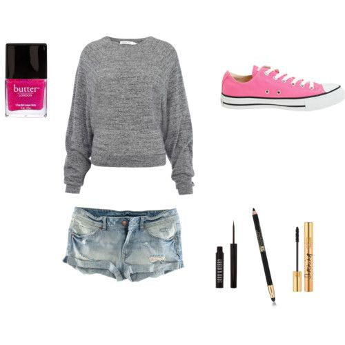 hot pink converse cute amp simple outfits pinterest