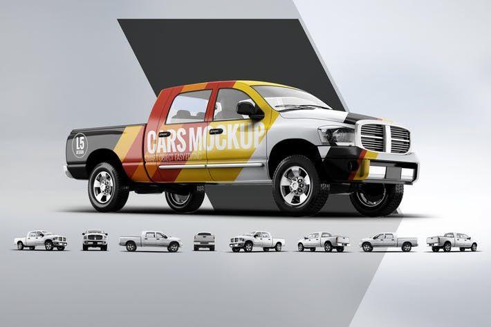 Pickup Truck Mockup Pickup Template Download Here Http 1 Envato Market C 97450 298927 4662 U Https Elements Envato Com P Pickup Trucks Trucks Mockup