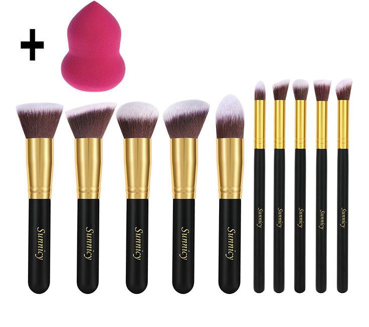 Kit de pinceaux - 10 pièces makeup pinceau fond de teint anti cerne blush +Blender Maquillage: Amazon.fr: Beauté et Parfum