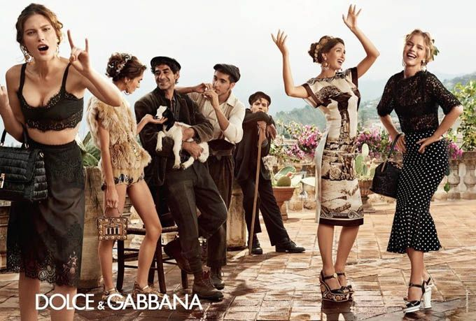 i looooved this dolcegabanna campaigns