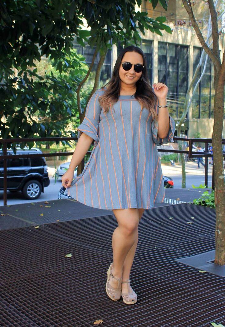 Look do dia: Listras - Carol Doria, outfit of the day, lookbook, du jour, streetstyle, vestido, dress, looks para o verão, estilo de blogueira, stripes