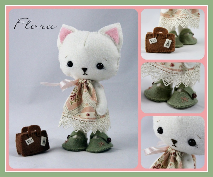 Flora Kitty, pattern by Gingermelon