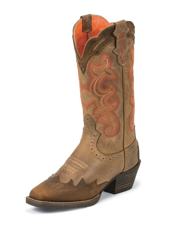 Justin Tiger Tan Buffalo Ladies Western Boot Fall 13 New Arrivals Pinterest Western Boots Tans And Buffalo
