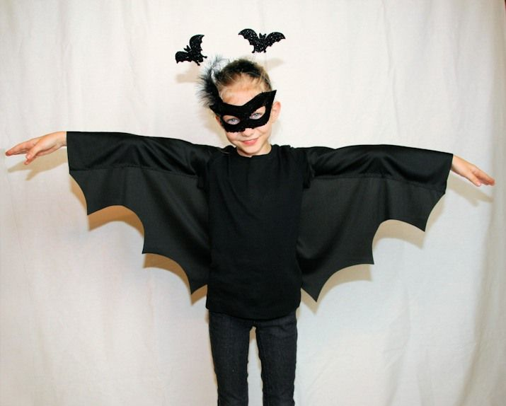 Halloween Kostüm / Verkleidung für Kinder: Kleine Fledermaus! Das geht sogar ohne nähen und ist ganz einfach ...