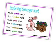 Have an Easter Egg Scavenger Hunt. For example, Find 3 yellow eggs, find 2 purple eggs, find 4 blue eggs, etc.. Not only is this is fun, it's fair for everyone. You can easily make your own cards or print our FREE Easter Egg Scavenger Hunt Cards.