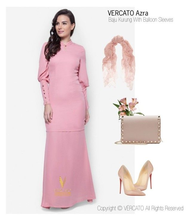 """Baju Kurung Moden Terkini 2016"" by vercato on Polyvore featuring Baju Kurung With Balloon Sleeves - Vercato Azra in Dusty Pink. SHOP NOW: www.vercato.com"