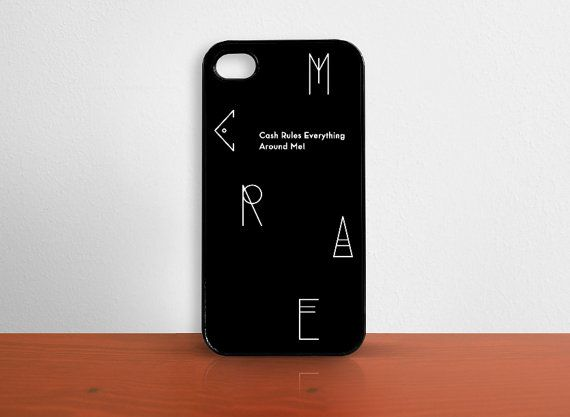 iPhone case 5 4s  4 C.R.E.A.M. Black by MessProject on Etsy, €15.00