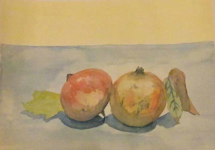 #art #Watercolour - pomegranates by Giovanni De Bari