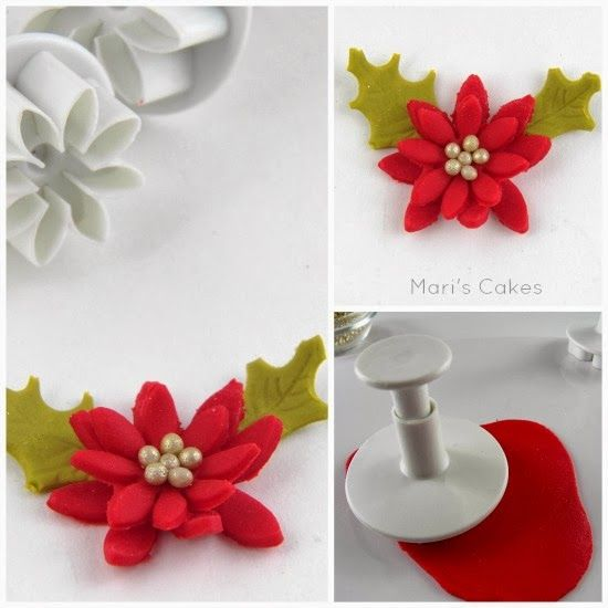 Mari's Cakes: Cupcakes Navideños y Cómo Hacer Flor de Pascua