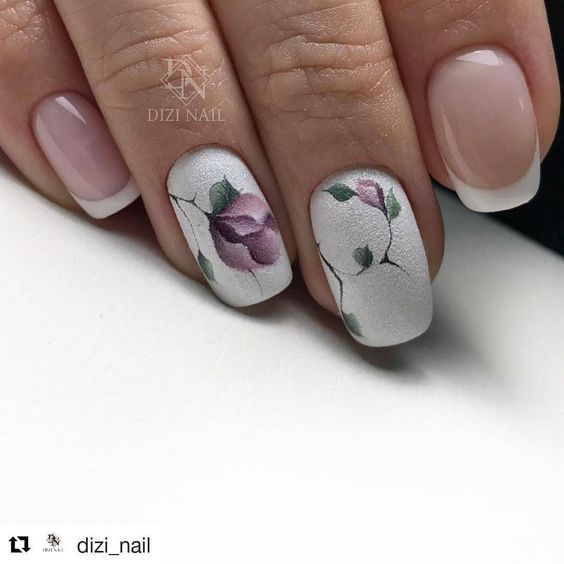 50 Beautiful Floral Nail Designs For Spring – Page 29 of 50