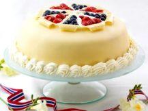 Norvege - Gâteau au massepain du 17 Mai (Dessert) - Recettes de Cuisine norvégiennes