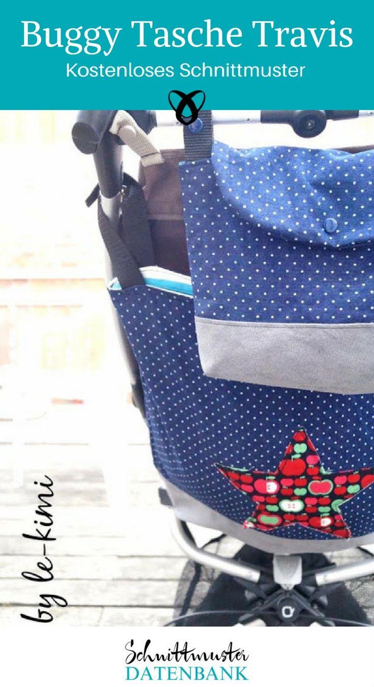 Buggytasche Kinderwagentasche Freebook kostenloses Schnittmuster kostenlose Nähanleitung Nähen fürs Kind