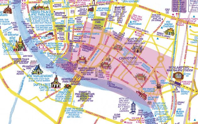 I found my way around Bangkok with Nancy Chandler's beautiful map - and then wrote about it! (http://www.silverkris.com/destinations/asia-pacific/getting-around-bangkok)