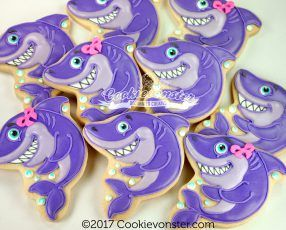 Image result for shark cookies