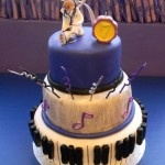 The perfect cake for the Bieber fan. This Justin Bieber inspired cake is 3 tiers of goodness.