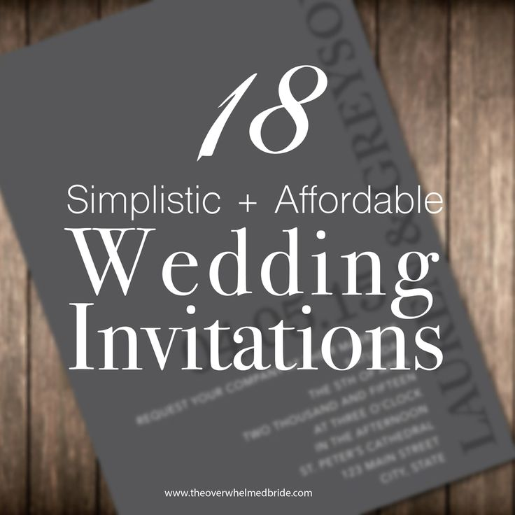 simplistic and affordable wedding invitations that we absolutely love!