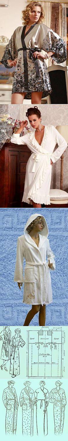Халаты (выкройки, шитье). | Внешность: Мода для всех | Постила