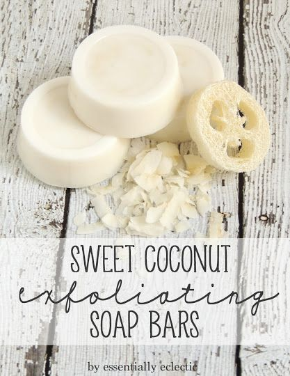 Sweet Coconut Exfoliating Soap Bars by Essentially Eclectic