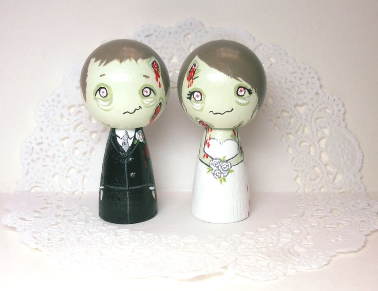 Cute Zombie  Wedding Cake Toppers