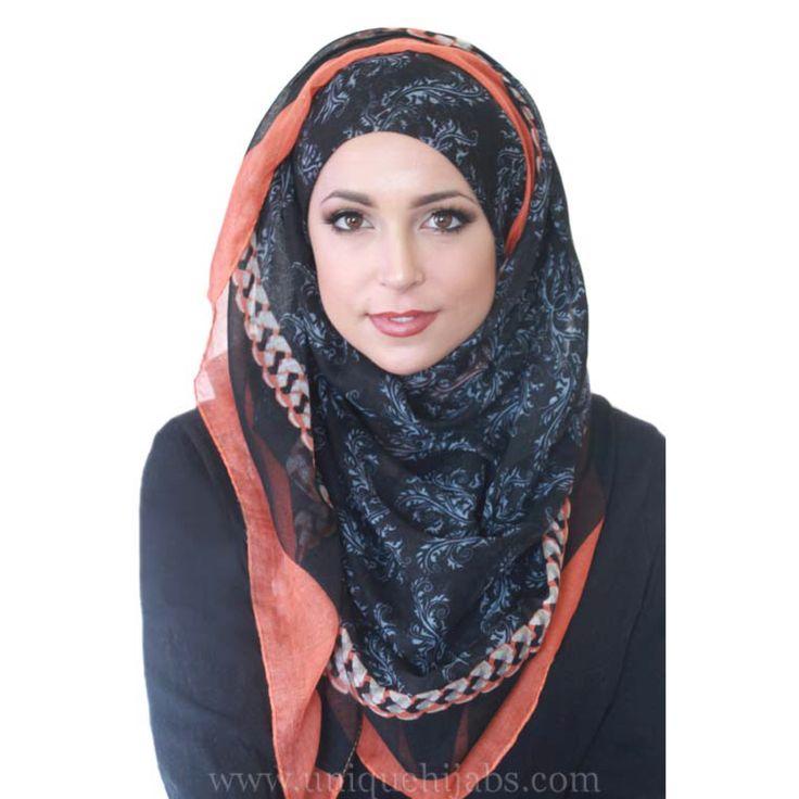 Full bloom light hijab www.uniquehijabs.com