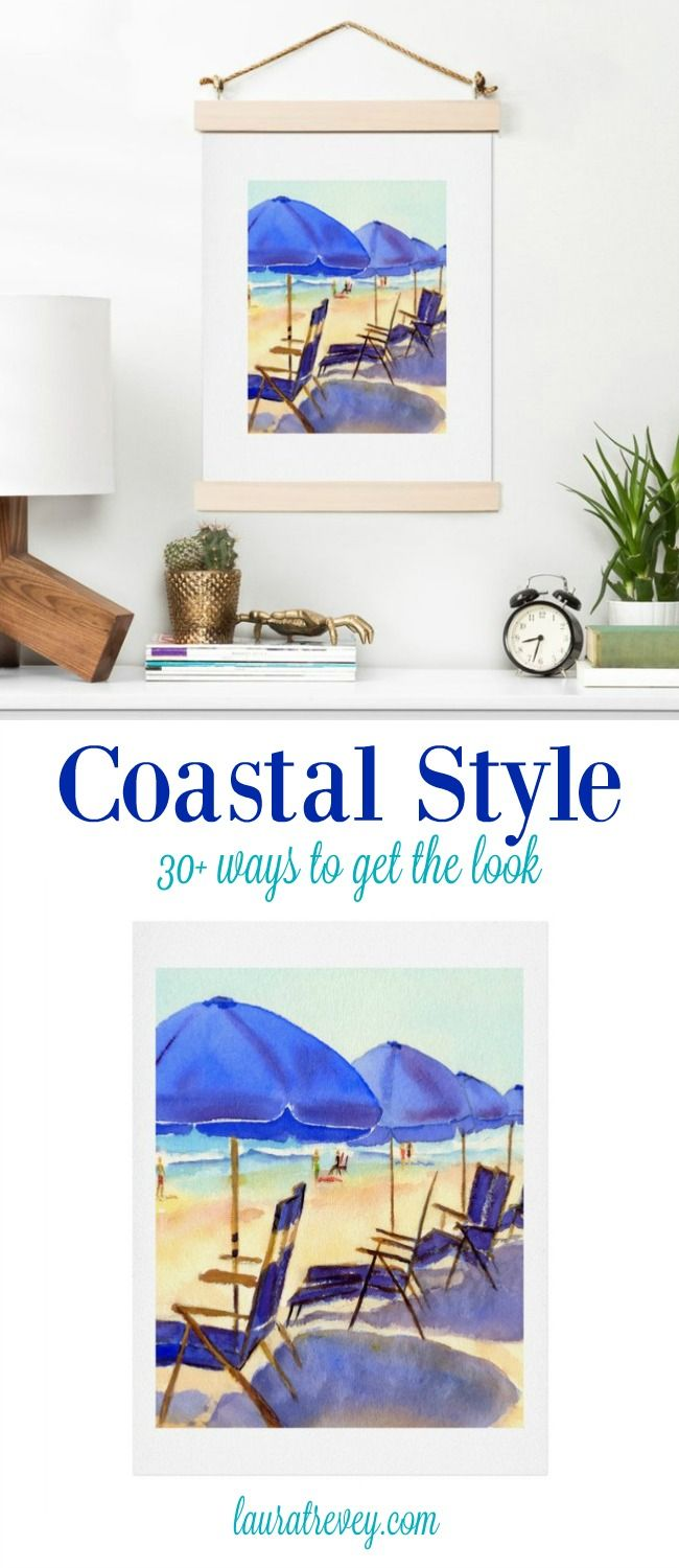 Coastal Living Decor for your beach house or sea-inspired room. Get the look with 30+ these colorful accessories and decor.