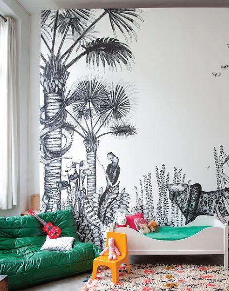 The Wild bu Bien Fait Paris - at The Pattern Collective - Wall Mural                                                                                                                                                                                 Plus