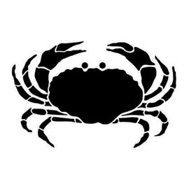 Crab Silhouette Stencil