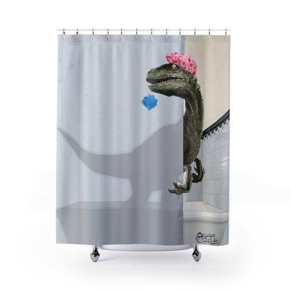 """""""Velociraptor"""" Shower Curtain"""