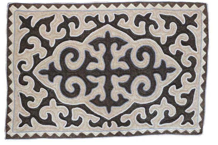 Danek, handmade shyrdak felt carpet.