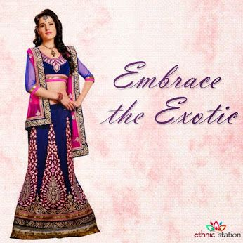 Feel like a queen, and let these exquisitely woven lehengas be your crowning glory.Get this and many more designs only @ http://goo.gl/YoMAAU #lehengas