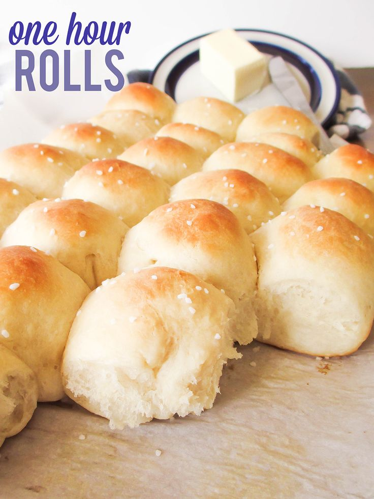 These are the fluffiest, tastiest, best rolls ever, and they're ready in an hour!