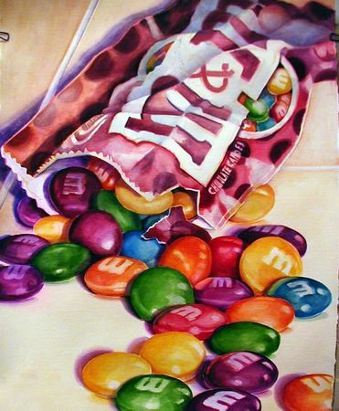 watercolor candy