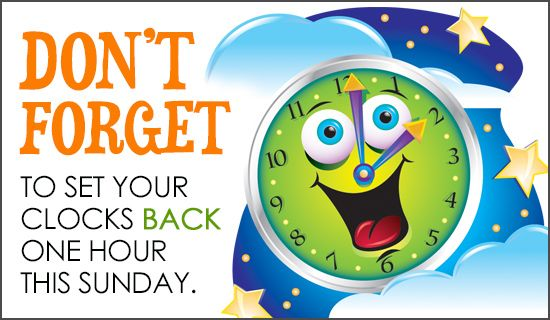 Free Set Clocks Back eCard - eMail Free Personalized Daylight Saving Ends Cards Online
