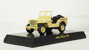 Kyosho 1/64 USA SPORTS CAR Minicar Collection Jeep Willys MB WWII US Army Truck 1/4 ton 4x4 utility vehicle Sand (japan import) Mini Diecast Car Figure