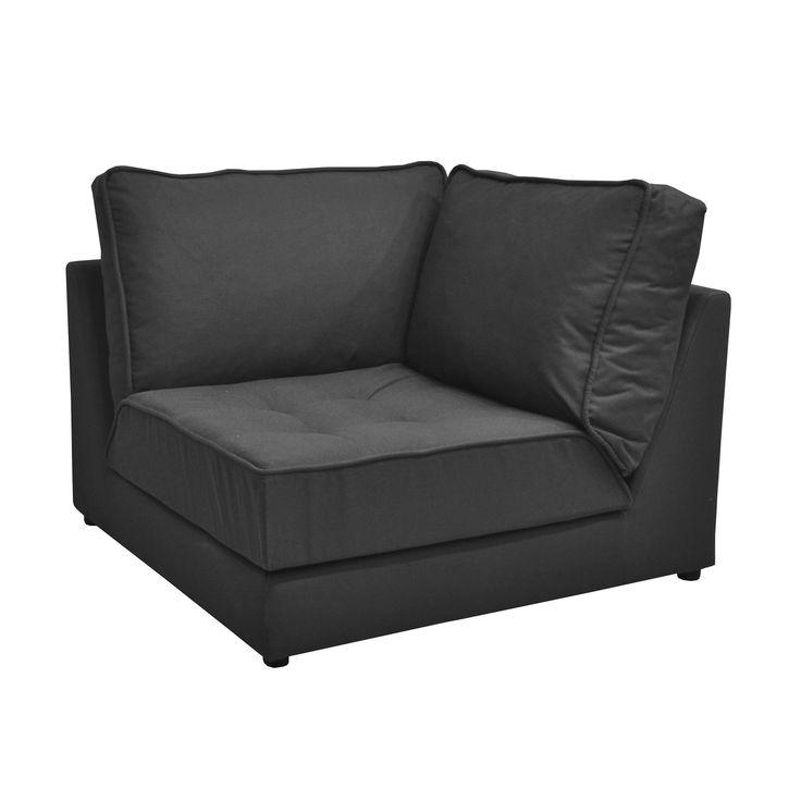 elegant chauffeuse dangle anthracite gris ardoise natty. Black Bedroom Furniture Sets. Home Design Ideas