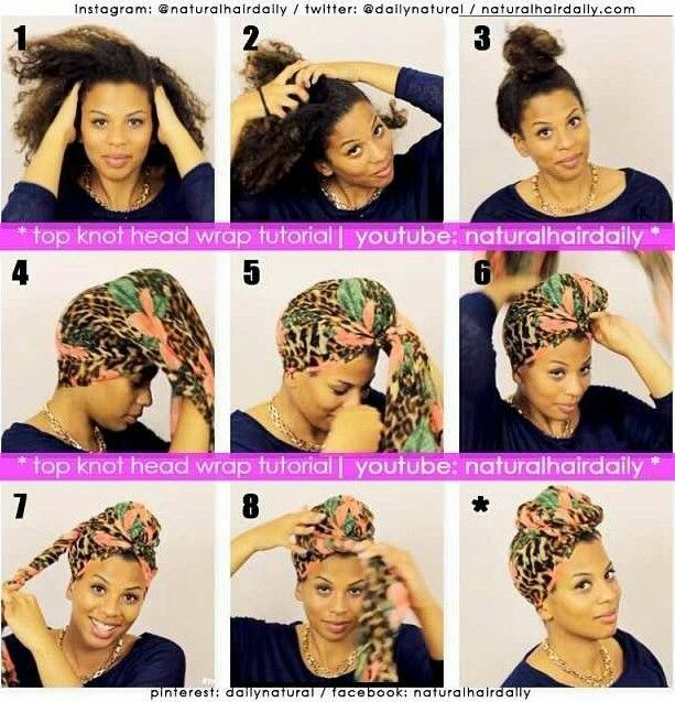 African Naturalistas: 5 Simple Headwrap tutorials for Bad hair days