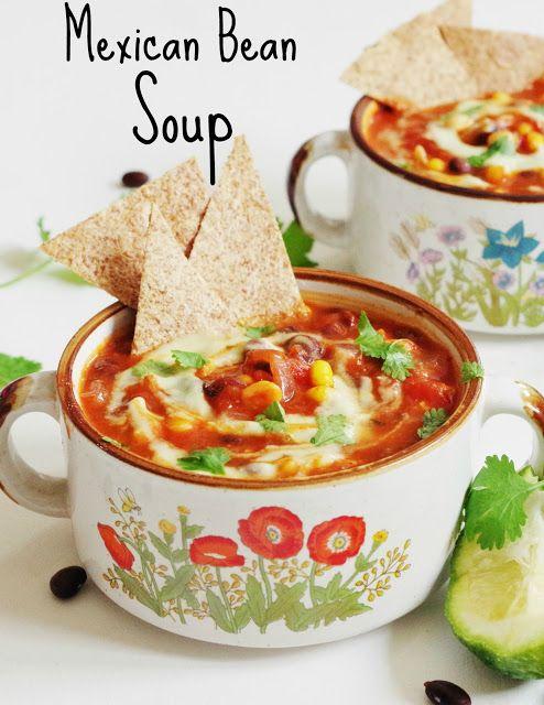 Mexican Bean Soup with Avocado Cream |Euphoric Vegan