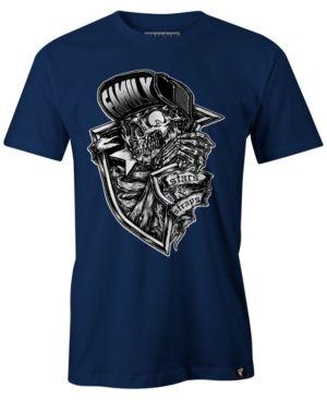 Famous Stars and Straps Men's Creeper Cotton Graphic-Print T-Shirt  - Blue 2XL