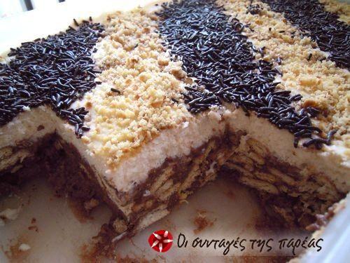 Quick biscuit cake #cooklikegreeks #biscuitcake #chocolate