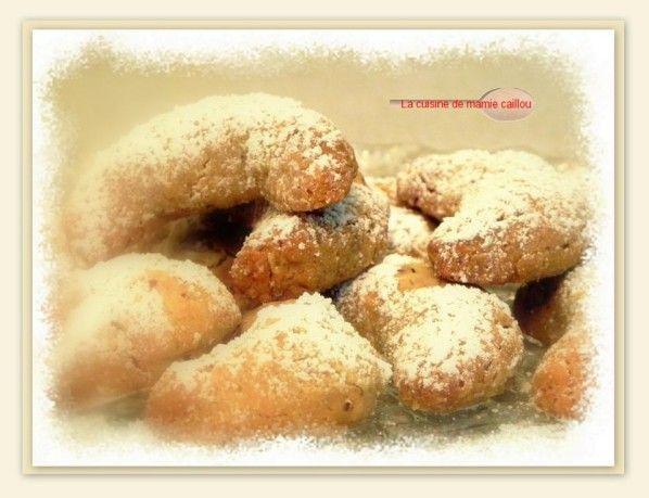 croissants de lune aux noisettes