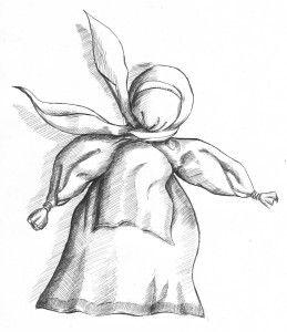 Żadanica - Tradycyjna Lalka Białoruska spełniająca życzenia / Doll fulfilling the wish    rys.Mateusz Świstak