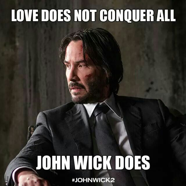 love does not conquer all john wick does