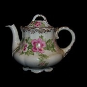 Vintage Philip Rosenthal Malmaison Rose Bavaria Teapot with Lid