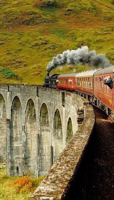 Glenfinnan Viaduct aka The Harry Potter bridge to Hogwarts