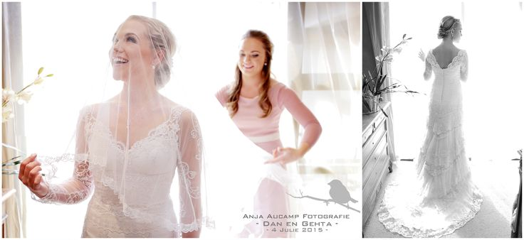 Bride getting ready. Beautiful lace dress  Anja Aucamp Photography #wedding #southafrica