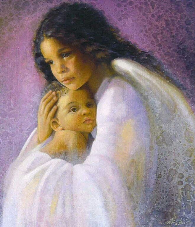 """Innocent Angel"" ~ Nancy Noel.....I own this painting !!"